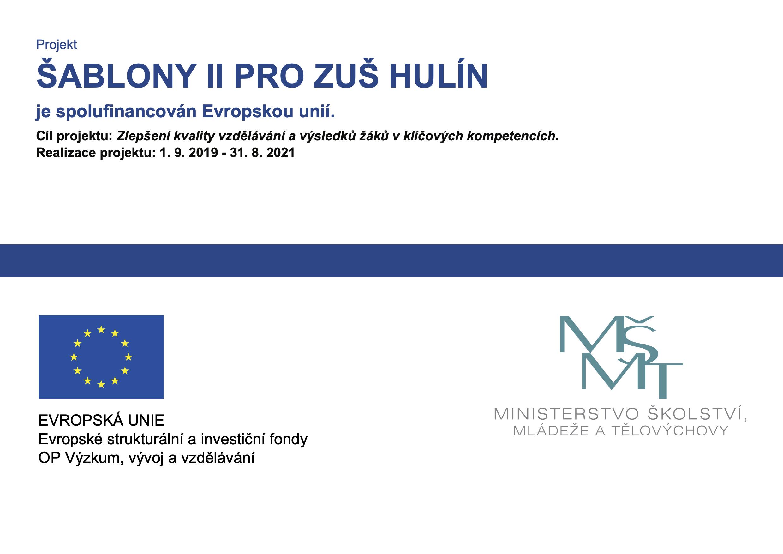 Šablony II pro ZUŠ Hulín 2019-2021